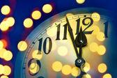 Ρολόι το νέο έτος — Φωτογραφία Αρχείου