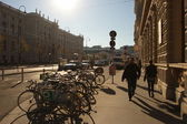Sunny day on the street of Wien — Stock Photo