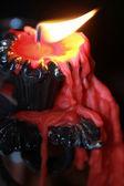 Hořící svíčka — Stock fotografie