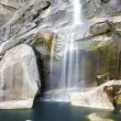 Waterfall in Yosemite National Park - Stock Photo