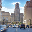 Stock Photo: Buffalo City Hall and its surrounding.