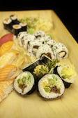Futomaki Asparagus and Other Sushi Set — Stock Photo