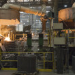 Casting in Steel Mill — Stock Photo