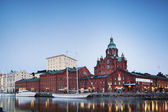 Uspenski Cathedral in the port, Helsinki — Stock Photo