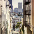 Step Street in San Francisco - Stock Photo