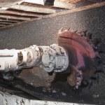 Coal extraction: Coal mine excavator — Stock Photo