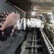 Stock Photo: Coal extraction: Coal mine excavator