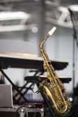 Saxophone on the Stage — Stock Photo