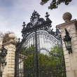 Stock Photo: Luxury Gate to Gilded Age Mansions: Breakers