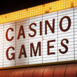 Casino Games Sign — Stock Photo
