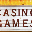 Stock Photo: Casino Games Sign