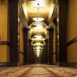 Stock Photo: Long Art Deco Corridor