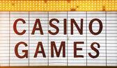 Casino Games Sign — Stock Photo