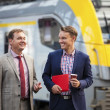 Two Businessmen at Railway Station — Stock Photo #29943863