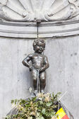 Manneken Pis statue in the centre of Brussels. — Stock Photo