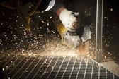 Industrial Cutting of the Metal Item — Foto de Stock