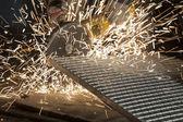 Industrielle Schneiden des Elements Metall — Stockfoto