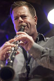 Ken Vandermark during concert — Stock Photo
