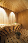 Interior of a Finnish sauna. — Stock Photo