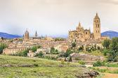 красивая панорама города сеговия, испания — Стоковое фото