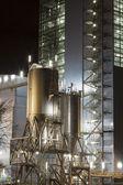 Centrale électrique de nuit — Photo