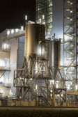 Power plant by night — Stock Photo