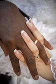 Black and white wedding — Stock Photo
