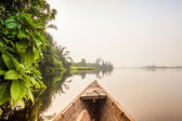 Canoe ride in Africa — Stock Photo