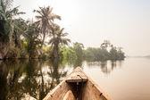 Canoe ride in Africa — Stock Photo