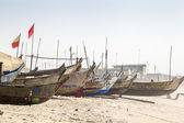 Traditional wooden fishermen boats — Stock Photo