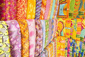 African fabrics from Ghana, West Africa — Stock Photo
