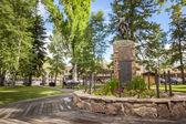 Jackson hole city center, Wyoming — Stock Photo