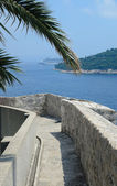 Dubrovnik, fortress ancient old town walls — Stock Photo