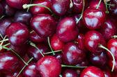 Sweet cherries background — Stock Photo