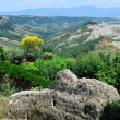 View of the badlands in Civita, Lazio, Italy — Stock Photo