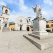 Piazza San Benedetto in Norcia, Umbria Italy — Stock Photo