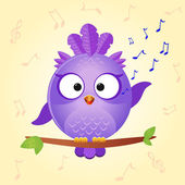 Bird sing — Stock Vector