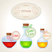 Potion set — Stock Vector