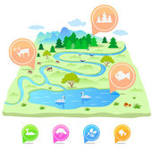 Map nature — Stock Vector