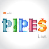 Pipes text — Stock Vector