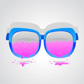 Glasses pink — Stock Vector