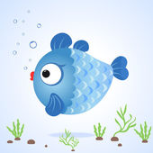 Fish cute — Stock Vector