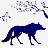 Wolf outline — Stock Vector