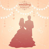 Vintage wedding — Stock Vector