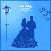 Vintage lovers — Vector de stock