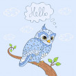 Owl hello — Stock Vector #29174737