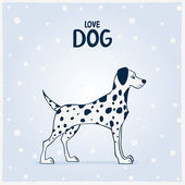 Dog Dalmatian — Vector de stock