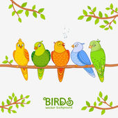 Parrot cute — Stock Vector