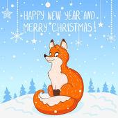 Fox nieuwjaar — Stockvector