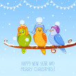 Bird christmas — Image vectorielle